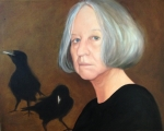 self portrait with crows